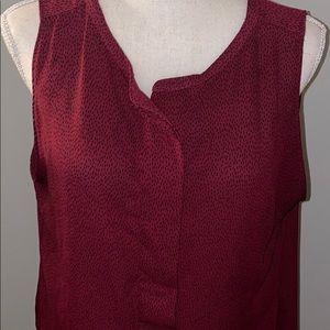 Loft Women's Burnt Red Blouse sleeveless
